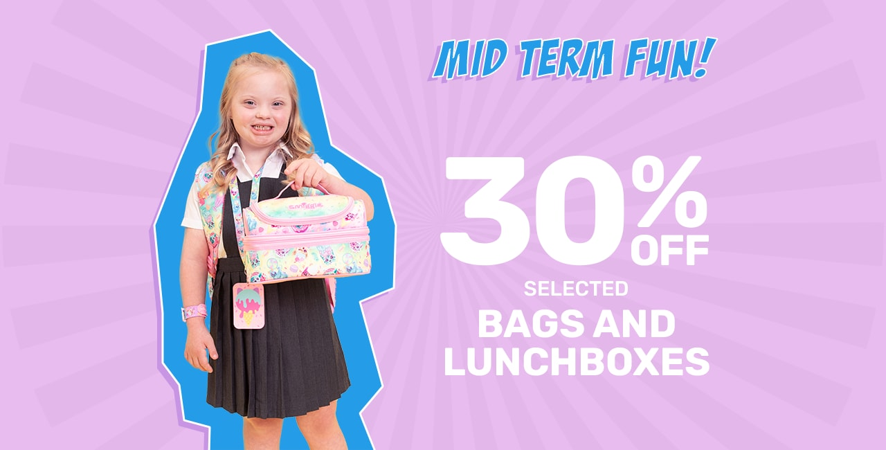 30% Off Selected Bags + Lunchboxes