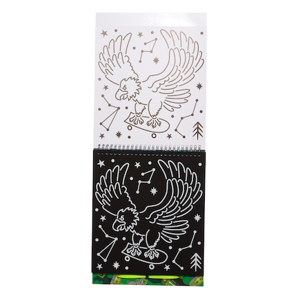 Level Up Holographic Scratch Book