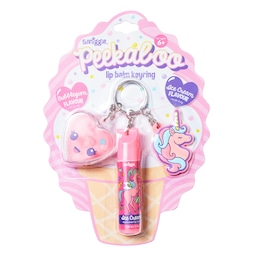 Peekaboo Ice Cream And Bubblegum Lip Balm Keyring