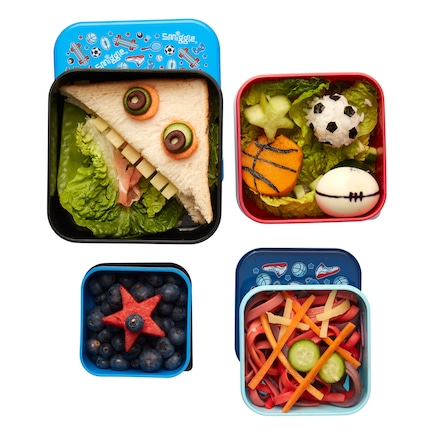 Happy 4 In 1 Nested Lunchbox Set X4