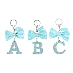 Mint Bow Alphabet Keyring