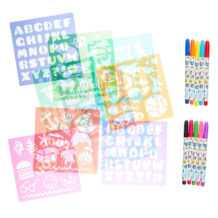 Super Stencil And Marker Set